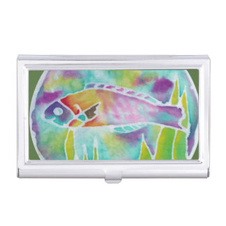 Batik Art Hinalea Tropical Fish Business Card Hold Business Card Holder