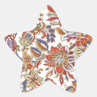 batik art no 1 star sticker
