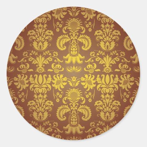Batik Bali style design Round Sticker