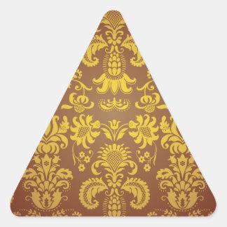 Batik Bali style design Triangle Sticker