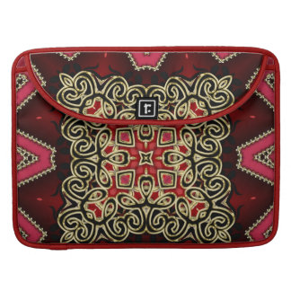 Batik Celtic Fusion Red Gold Laptop Sleeve