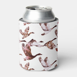 Batik Dusty Rose Geese in Flight Waterfowl Animals Can Cooler