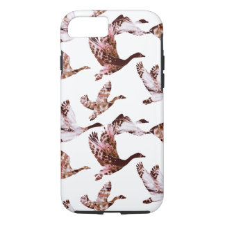 Batik Dusty Rose Geese in Flight Waterfowl Animals Case-Mate iPhone Case