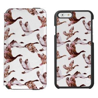 Batik Dusty Rose Geese in Flight Waterfowl Animals Incipio Watson™ iPhone 6 Wallet Case
