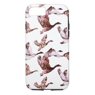 Batik Dusty Rose Geese in Flight Waterfowl Animals iPhone 8/7 Case