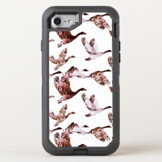Batik Dusty Rose Geese in Flight Waterfowl Animals OtterBox Defender iPhone 8/7 Case