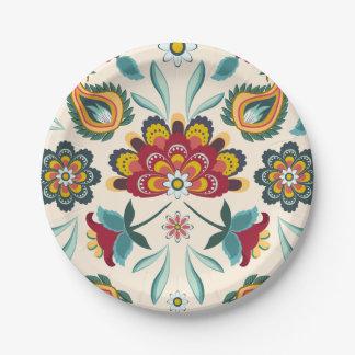 Batik Floral Boho Indonesian Style Paper Plate