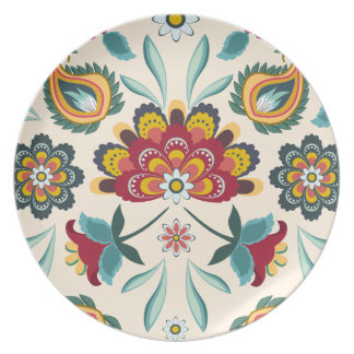 Batik Floral Boho Indonesian Style Plate
