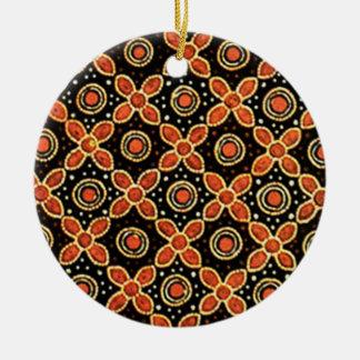 batik godong 03 ceramic ornament