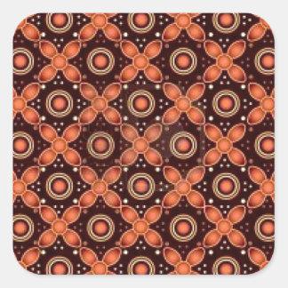 batik graphic art no.2 square sticker