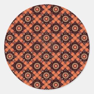 batik graphic art no.2 round sticker