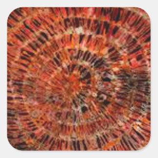 batik graphic art no.3 square sticker