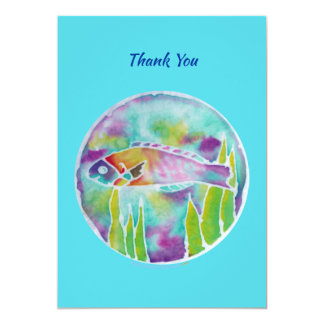 Batik Hinalea Hawaiian Fish Batik Art Thank You Card