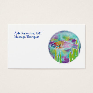 Batik Hinalea Hawaiian Wrasse Fish Batik Art Business Card
