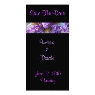 Batik Iris Save The Date Photo Cards