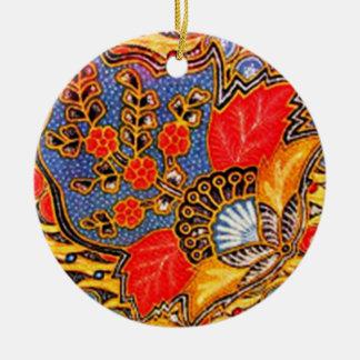 batik kalapito 03 ceramic ornament