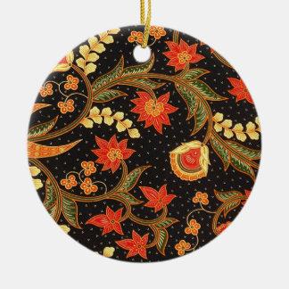batik kalsabit 03 ceramic ornament
