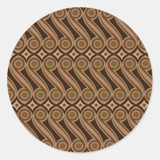 batik kulasa 01 classic round sticker