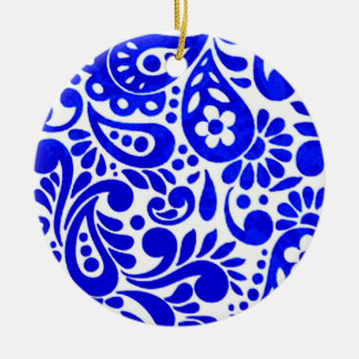 batik mega 03 ceramic ornament