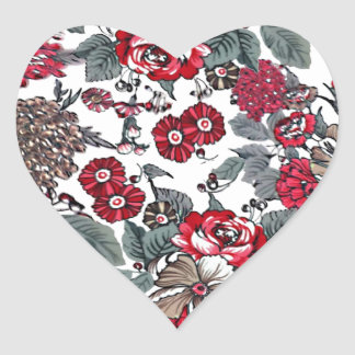 batik no.16 collection heart sticker
