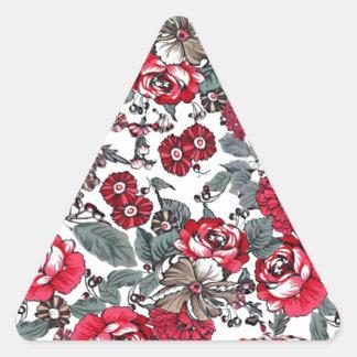 batik no.16 collection triangle sticker