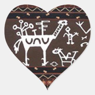 batik no.18 collection heart sticker