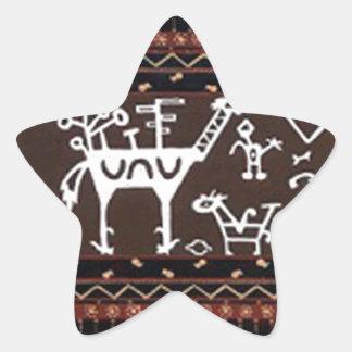 batik no.18 collection star sticker