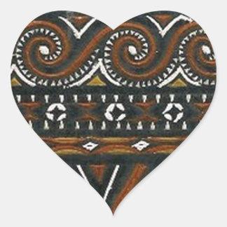 batik no.19 collection heart stickers