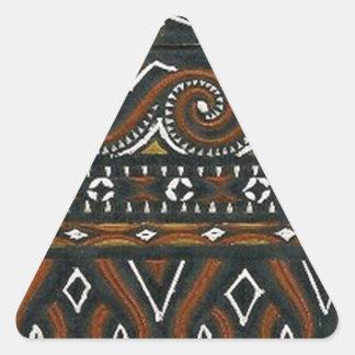 batik no.19 collection triangle sticker