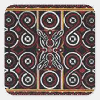 batik no 20 collection square stickers