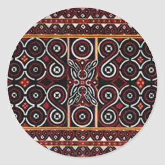 batik no.20 collection round stickers