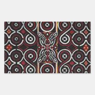 batik no 20 collection rectangle stickers