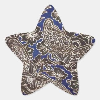 batik no.21 collection star sticker