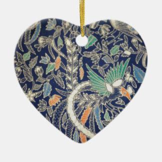 batik no.22 collection ceramic ornament