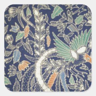 batik no.22 collection square sticker