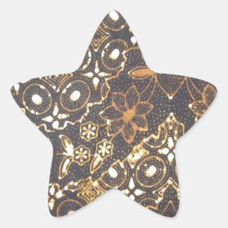 batik no.24 collection star stickers