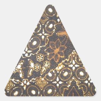 batik no.24 collection triangle sticker