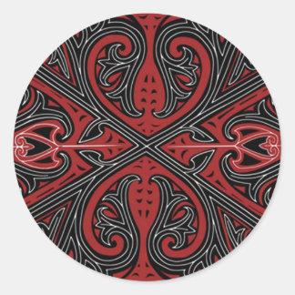 batik no.26 collection round sticker