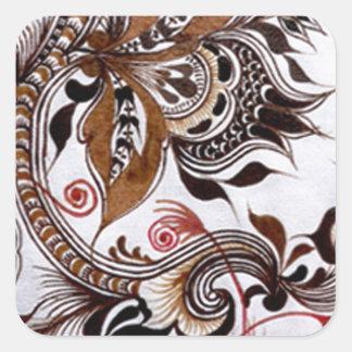 batik no 4 colection square sticker