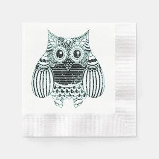 Batik Owl  Cocktail Paper Napkins