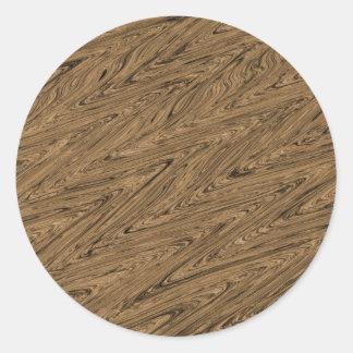 Batik Patern green wood Round Sticker