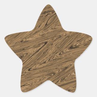 Batik Patern green wood Star Sticker