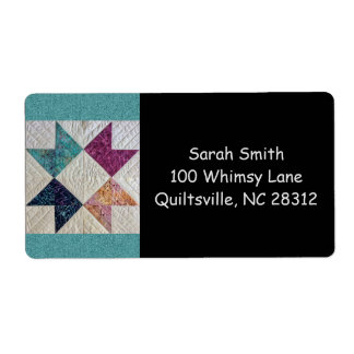 Batik Quilt Address Labels