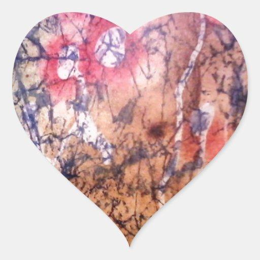 Batik - Red Lichen Sticker