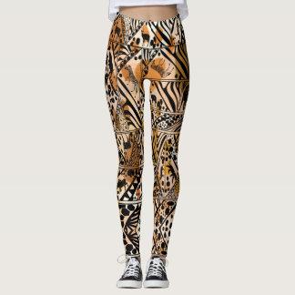 Batik Safari Design Leggings