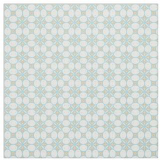 Batik Seamless Pattern Fabric in Aqua and Tan