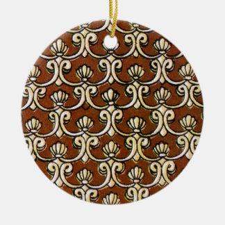 batik semanggi 03 ceramic ornament