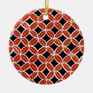Batik siti 03 ceramic ornament