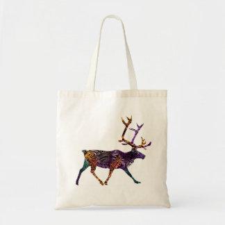Batik Style Caribou tote bag No 2