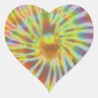 Batik style heart sticker